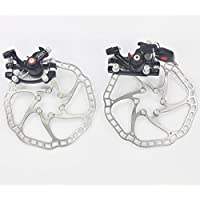 UPANBIKE MTB Road bicicletta, anteriore e posteriore, meccanica-Lucchetto per freno a disco con rotore da 160 mm