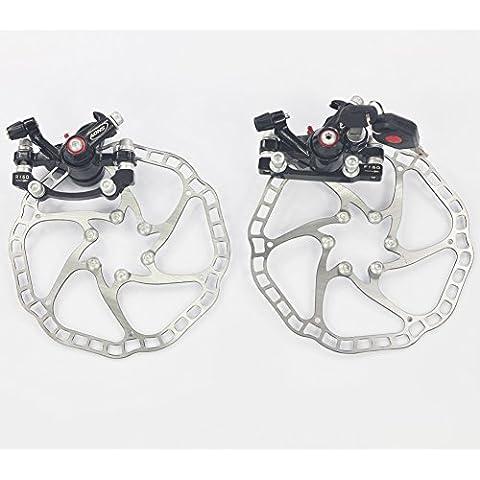 upanbike MTB Bicicleta de carretera bicicleta freno de disco mecánico delantero y trasero Calibre Con Cerradura Rotor de 160mm