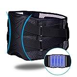 ZHIJING Rückenbandage Rückenstütze Rückengurt mit Stützstreben Nierenwärmer Herren Rückenstützgurt verstellbare Zuggurte zur Haltungskorrektur zum Arbeitsschutz atmungsaktiv XXL