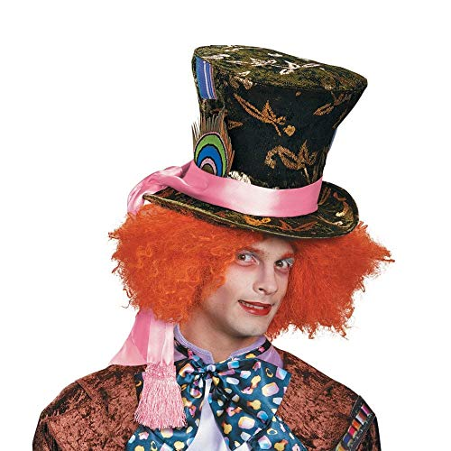 Glass The Through Alice Kostüm Looking - Alice Through The Looking Glass Mad Hatter Prestige Costume Hat Adult One Size