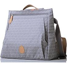 PacaPod Lewis Paloma Tile funda–Bolso cambiador de lujo gris patrón Messenger 3en 1sistema de organización con Convertible correas de mochila