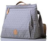 PacaPod Lewis Dove Tile Designer Baby Changing Bag - Luxury Grey Pattern Messenger 3 in 1 Organising System With Convertible BackPack Straps