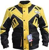 German Wear Textilien Jacke Motorradjacke Kombigeeignet, Schwarz/Gelb, 4XL