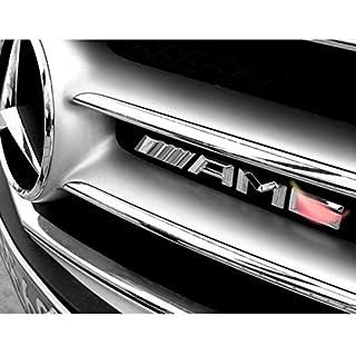 YIKA AMG Metal Car Sticker Decal Emblem Badge Fit AMG Car Front Grille