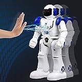 Wishtime Intelligent Robot télécommandé Rc Jouet Cadeau Smart Action RC Robot Randonnée Sing Dancing Programmable et Gesture Sensing pour Enfants Enfants Divertissement