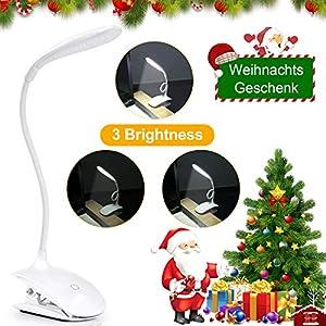 Leselampe für Buch, Sunnest Buchlampe Clip-Licht, LED-Schreibtischlampe, Touch-Steuerung, dimmbar, Nachttisch- und…