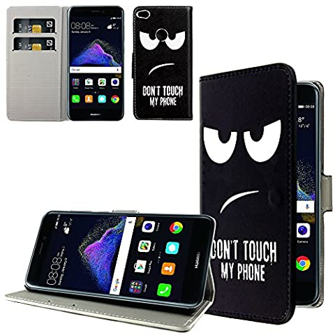 Ownstyle4you - Huawei P10 Lite Etui Wallet Coque Housse PREMIUM Portefeuille Eco Cuir Side Don