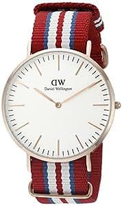 Daniel Wellington Herren-Armbanduhr XL Exeter Analog Quarz Nylon 0112DW