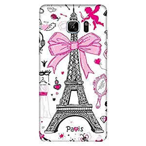 Bhishoom Designer Printed Back Case Cover for Samsung Galaxy Note 7 (Paris :: Girl :: Eiffel Tower :: Girlish :: Her)