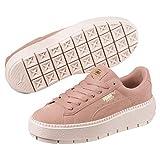 Puma Platform Trace Damen Sneaker Peach Beige-Pearl 5.5