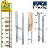 H-Pfostenträger CE-Kennzeichen 121x600mm Anker Pfostenschuh Carport Pfostenanker