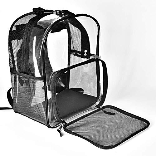 GYBY Hunderucksack großmaschige Transporttasche faltbar transparent gute Belüftung und Linienstruktur