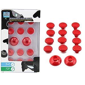 PS4 & XBOX1 Controller Thumbsticks 14in1 Austauschbare Aimsticks in vers. Höhen (Rot)