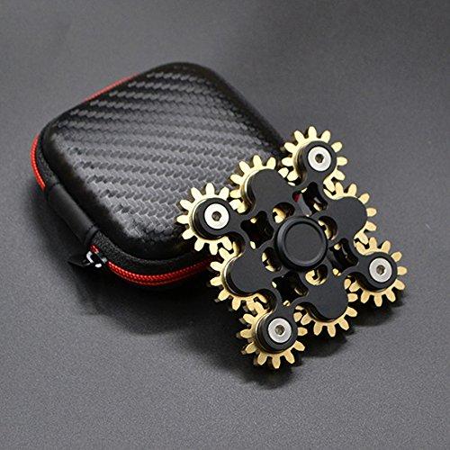 Preisvergleich Produktbild Micogo EDC High Speed Finger Spinner für Langeweile Kids & Erwachsene Entlastung Stress und Kill Time,Multi-Stil(9gear black)