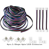 AREOUT 39.3ft/12M 4-broches Cable de connecteur cable cordon d'extension pour 3528 5050 RGB LED Strip-connecteur kit