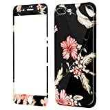 Coque iPhone 8 Plus Fleurs Silicone, Wafly Coque iPhone 7 Plus 360 Degres+Protection...