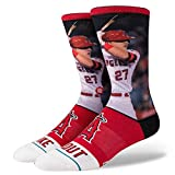 Stance Mike Trout Crew Socks - Red Large