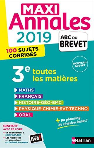 Maxi Annales ABC du Brevet 2019 par Nicolas Coppens