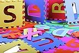 PRINZBERT Buchstaben Puzzlematte 36 Matten 86-tlg. Puzzleteppich Kinder Spielmatte Spielteppich Schaumstoffmatte rutschfest Lernteppich schadstofffrei Spielfläche Lerneffekt ABC Puzzle Moosgummi Eva -