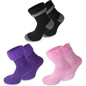 Polar Husky® 3 Paar Super Warme Thermo Socken! Vollplüsch/Perfekt geeignet für Stiefel