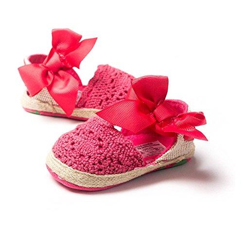 Espadrilles brodées - Chausson fille 0 à 18 mois 12/18 mois Rose foncé