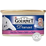Purina Set 24 Gourmet Diamant Gr 85 Gilthead Tuna Flakes Food For Cats