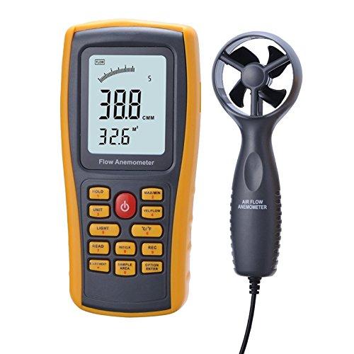 Preisvergleich Produktbild Himanjie®GM8902 Handheld Digital Anemometer LCD Windgeschwindigkeit Temperaturmessung Windmesser