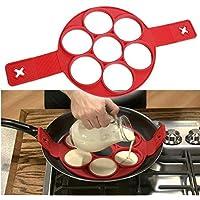 Pancake Silicone Maker antiadhésives Outil de Cuisine Crêpes Maker Ring Egg Flip Moule Egg Fromage Egg Cooker Cuisine Gadget