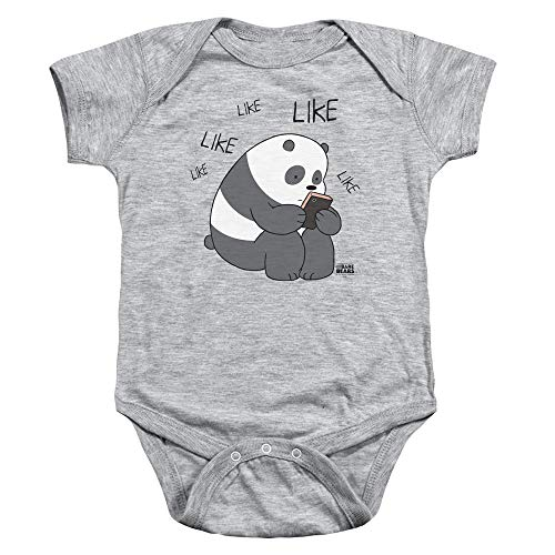 We Bare Bears - - Toddler Like Like comme Onesie, 18 Months, Athletic Heather
