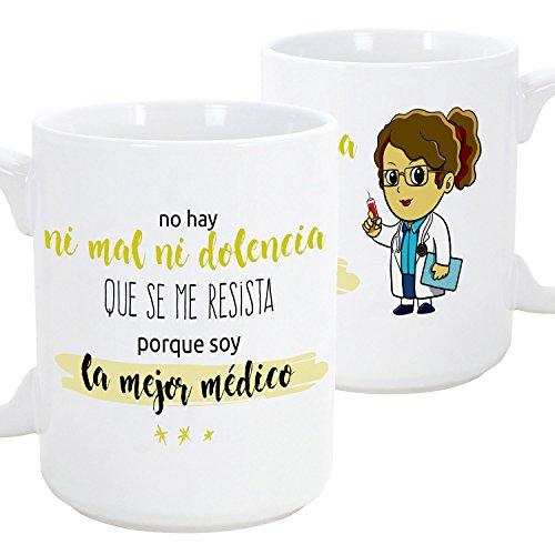 Taza de desayuno original para regalar a trabajadores profesionales - Regalo para médicos doctoras - Cerámica 350 ml (1 unidad)
