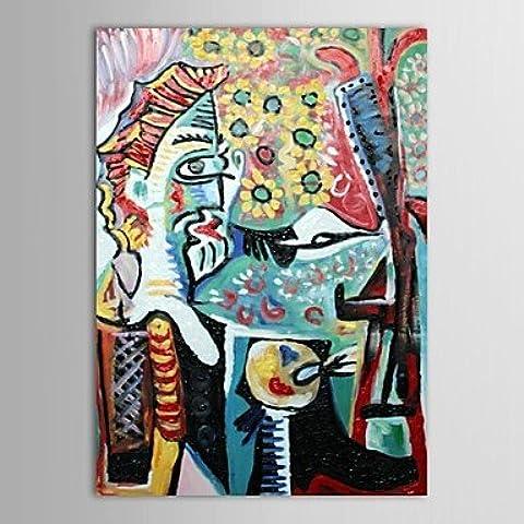 LAPS Pintado a mano de pintura al óleo Masters Museo Pinturas Pablo Picasso Reproducción con el marco de estirado
