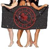 NDJHEH Strandtücher Handtücher Leo Constellation 100% Polyester Velvet Absorbent Bath Towel 31 X 51 inches