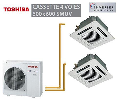 TOSHIBA CASSETTE 4VIAS 600X 600SMUV BI-SPLIT RAS-4M23SAV-E + 2RAS-M13SMUV-E