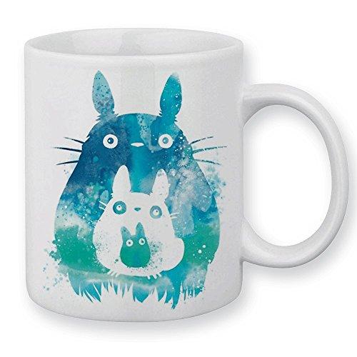 Mug Aquarelle Totoro / Mon Voisin Totoro bleu pastel, manga, geek - Chamalow shop