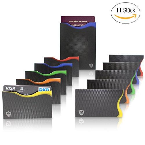 Amazy-RFID-NFC-Schutzhllen-11-Stck--100-Schutz-vor-Identitts-und-Datendiebstahl-fr-Kreditkarten-EC-Karten-Ausweise-und-den-Reisepass