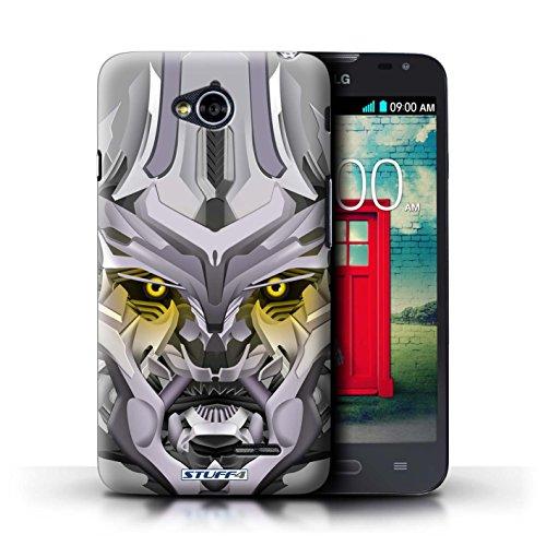 Kobalt® Imprimé Etui / Coque pour LG L70/D320 / Opta-Bot Jaune conception / Série Robots Mega-Bot Jaune