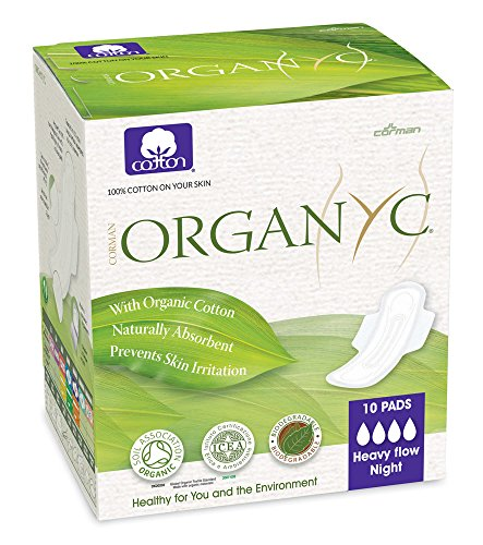 Organyc 100% Cotton Sanitary Pads Heavy Flow