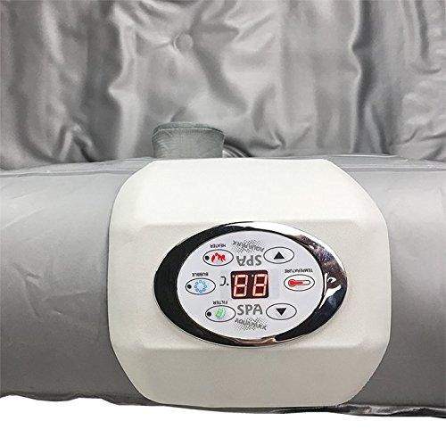 AQUAPARX Whirlpool AP-600SPA *rechteckig* 155x155x65 cm Pool Wellness Massage Spa Whirlpoolzubehör Badewanne Wanne Indoor Outdoor Heizung aufblasbar - 12
