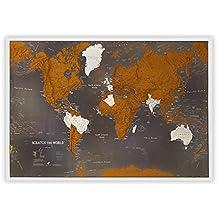 Carte du monde à gratter - Noire