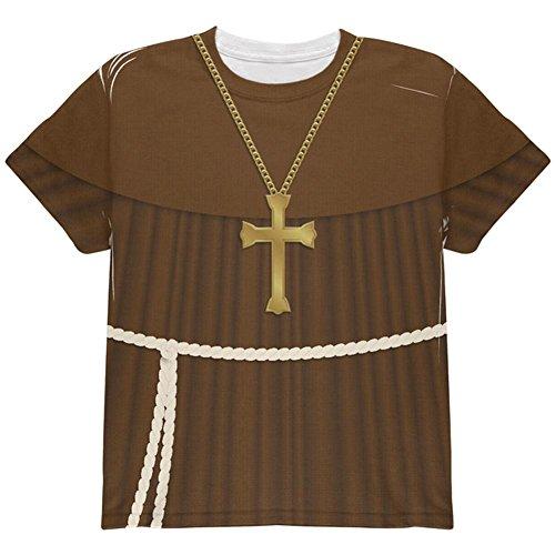 Edwardian Mönch Halloween Kostüm Ganzen Jugend T Shirt Multi ()