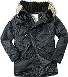 Denim&Supply Herren Parka Warme Jacke Uni & Uninah, Größe: XL, Farbe: Schwarz