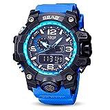 sunnymi Unisex Core Outdoor Sport Uhr/Wasserfest/Leuchtende Funktion/Datum und Uhrzeit/Robustes Verbundgehäuse/Abenteurer (Blau)