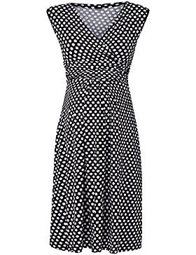 40c3893653ab Donna Abito prémaman senza maniche. Vestito svasato a pois. 110p