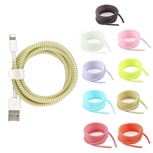 1.4M Charging Cable Protector Cable Management Organizer Protective Spiral Tube Wire Protectors Cord Sleeve Line Saver für IOS Android Charger Phone 1PC