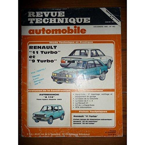 RTA0462 - REVUE TECHNIQUE AUTOMOBILE RENAULT 9 et 11 R9 et R11 TURBO