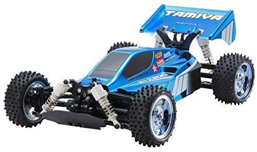 TAMIYA 47346 1:10 RC Neo Scorcher Blue Metal, TT-02B, blau