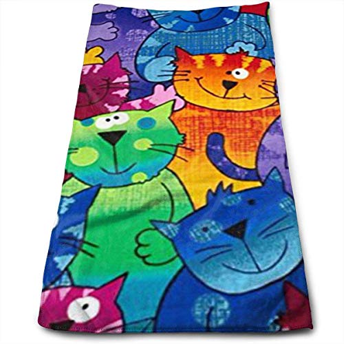 Cats Dogs Towels Multi-Purpose Microfiber Soft Fast Drying Travel Gym Home Hotel Office Washcloths (Halloween Skelett Wortspiele)