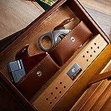 TYX HOME Boîte de Bureau en cèdre de Voyage avec humidificateur et humidificateur...