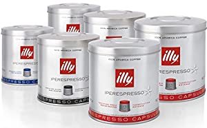 illy Iperespresso 126 Coffee Capsules - Mixed Case (2 x 21 Classic capsules, 2 x 21 Dark Roast capsules, 2 x 21 Lungo capsules)