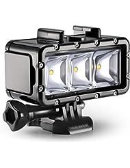 Neewer® 3 LED POV Blitz Dimmbares Taucher Unterwasser-Licht 30m wasserdichte Taucher-Licht Montage Set für Gopro Hero4 Session, 4, 3 +, 3, 2, 1, Xiaomi Yi SJ4000 / 5000/6000/7000
